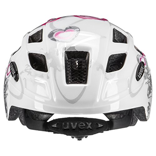Uvex Kinder Finale Junior Mountainbikehelm, Mehrfarbig (Heart White pink), 51-55 cm - 4