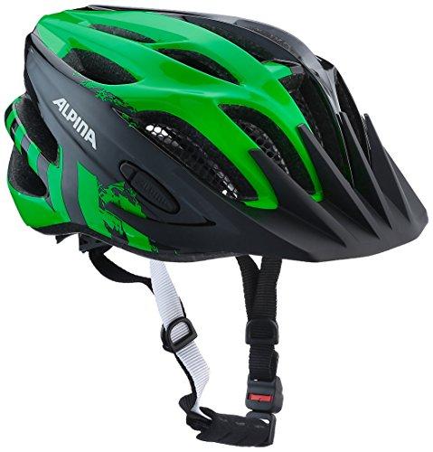 ALPINA Jungen Fb Jr. 2.0 Fahrradhelm, Black-Green, 50-55 cm