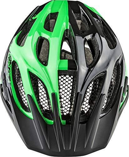 ALPINA Jungen Fb Jr. 2.0 Fahrradhelm, Black-Green, 50-55 cm - 3