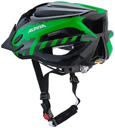ALPINA Jungen Fb Jr. 2.0 Fahrradhelm, Black-Green, 50-55 cm - 4