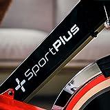 SportPlus Speedracer/Speedbike mit Tablethalterung und App-Anbindung, Bluetooth-Brustgurt Kompatibel, ca. 13kg Schwungrad, Widerstand stufenlos Einstellbar, SP-SRP-2100-i - 4