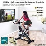 Sportstech Profi Indoor Cycle SX400 mit Smartphone App+Google Street View,22KG Schwungrad,Armauflage,Pulsgurt kompatibel-Speedbike mit flüsterleisem Riemenantrieb-Fahrrad Ergometer bis 150Kg - 3