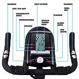 Sportstech Profi Indoor Cycle SX400 mit Smartphone App+Google Street View,22KG Schwungrad,Armauflage,Pulsgurt kompatibel-Speedbike mit flüsterleisem Riemenantrieb-Fahrrad Ergometer bis 150Kg - 7