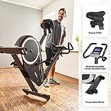 SportPlus Fahrradergometer mit App-Steuerung, Google Street View, Wattanzeige, ca. 10kg Schwungmasse, 24 Widerstandsstufen, Handpulssensoren, Nutzergewicht bis 150kg, Sicherheit geprüft - 5