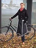 Drachenhaut Fahrrad Regenschutz schwarz - die schnelle Alternative zum Fahrradoncho (schwarz mit reflektierenden Details) - 3