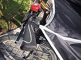 Drachenhaut Fahrrad Regenschutz schwarz - die schnelle Alternative zum Fahrradoncho (schwarz mit reflektierenden Details) - 4