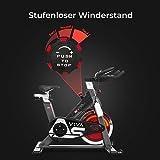 AsVIVA Indoor Cycle S8 Pro Speed-Bike mit Bluetooth App Kontrolle - Fitnessbike & Heimtrainer inkl. Klickpedale und Riemenantrieb - 5