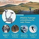 skandika Wiry Ergometer Heimtrainer 11kg Schwungmasse 24 Trainingsprogramme 32 Widerstandsstufen Magnetbremssystem Bluetooth Kinomap App-Steuerung Transportrollen (weiß) - 7