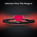 AsVIVA Heimtrainer und Ergometer H22 mit App Bluetooth Konsole | 15 kg Schwungmasse, Riemenantrieb - inkl. Fitnesscomputer – Handpulssensoren und Pulsempfänger (inklusive Brustgurt) | schwarz - 5