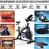 Sportstech Indoor Speedbike SX200 Sportgerät für Zuhause | Deutsche Qualitätsmarke + Video Events & Multiplayer APP | Hometrainer für Fitness | Heimtrainer-Fahrrad mit 22KG Schwungrad | inkl. eBook - 4