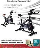 Sportstech Indoor Speedbike SX200 Sportgerät für Zuhause | Deutsche Qualitätsmarke + Video Events & Multiplayer APP | Hometrainer für Fitness | Heimtrainer-Fahrrad mit 22KG Schwungrad | inkl. eBook - 5