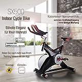 Sportstech Indoor Speedbike SX500 | Deutsche Qualitätsmarke + Video Events & Multiplayer APP | 25kg Schwungrad & leiser Riemenantrieb | Pulsgurt kompatibel + SPD Klickpedale | Nutzergewicht max. 150kg - 8