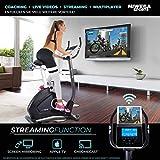 Miweba Sports Ergometer ME500 Trimmrad Cardio Heimtrainer - Streaming App - 14 Kg Schwungmasse - Magnetbremse - Pulsmesser (Black) - 5