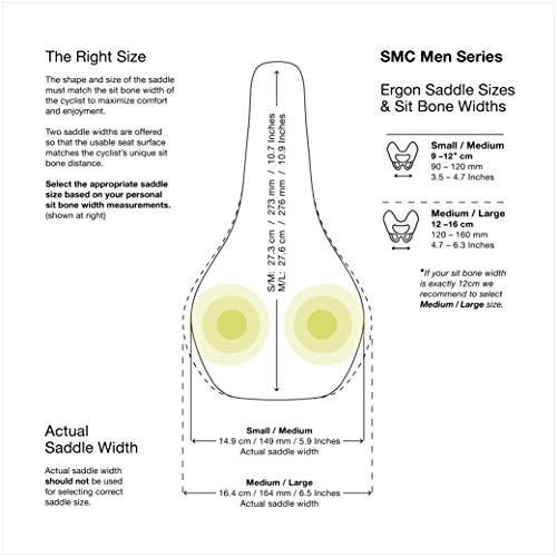 Ergon – SMC Sport Gel Fahrradsattel | MTB Comfort | Männer | Medium/Large | Stealth Schwarz - 6