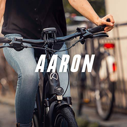 AARON Horn - Lenker Griffe mit Gel Dämpfung - ergonomische Lenkerhörner aus rutschfestem Gummi - Fahrradgriffe für E-Bike, Trekkingrad, Mountainbike, Tourenrad in schwarz - 8