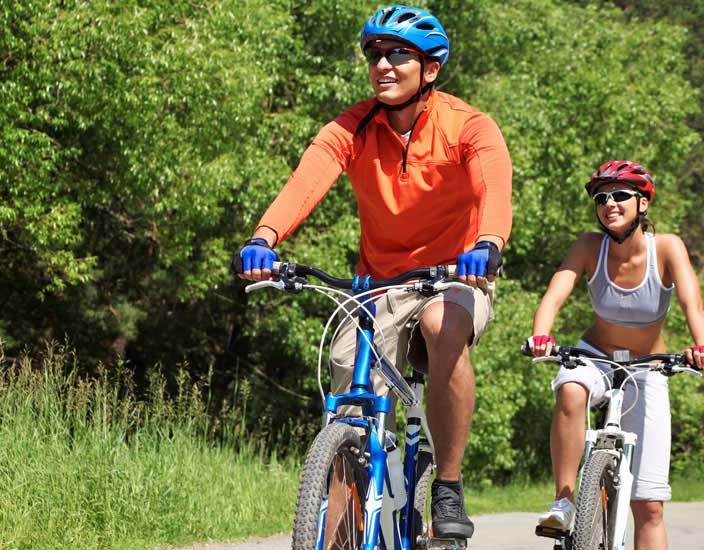 Lange Radtouren erleichtern das Abnehmen