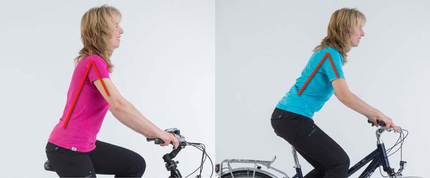 Oberkörperhaltung auf Citybike