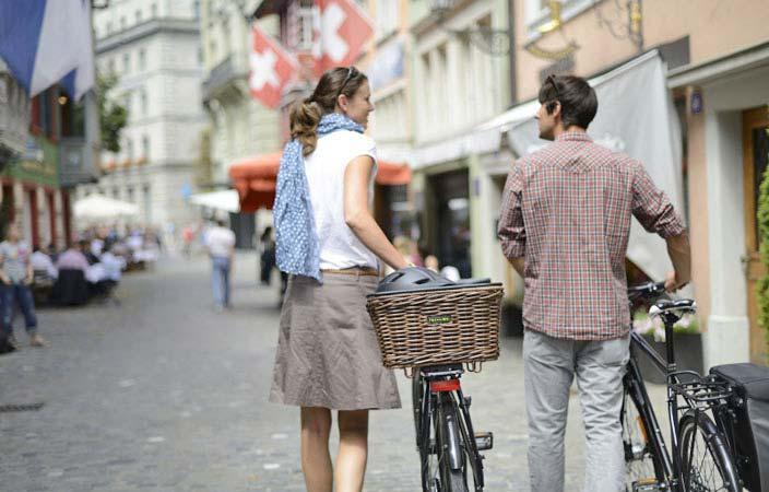 Einkaufen mit dem Fahrrad
