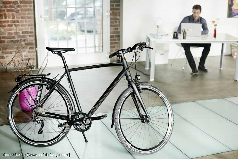 Ein sicherer Fahrrad-Abstellplatz ist für Arbeitnehmer wichtig.