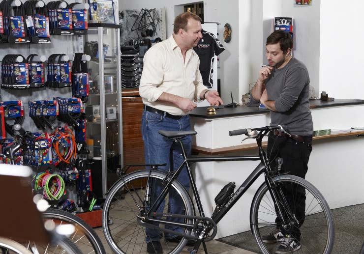 Beratung im Fahrradgeschäft