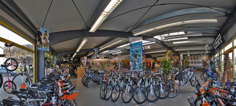 Fahrradfachgeschäft mit großer Auswahl