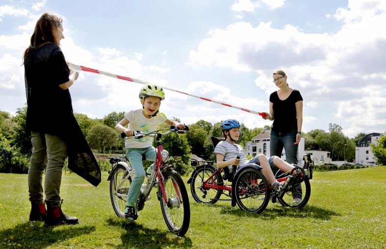Fahrradlimbo für Kinder