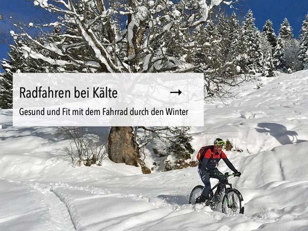 Gesund und Fit mit dem Fahrrad durch den Winter