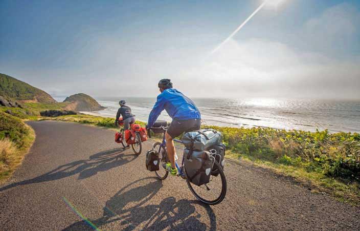 Radreise entlang der Küste mit Gepäck