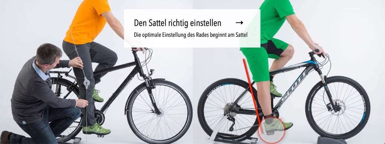 Den Fahrradsattel richtig einstellen