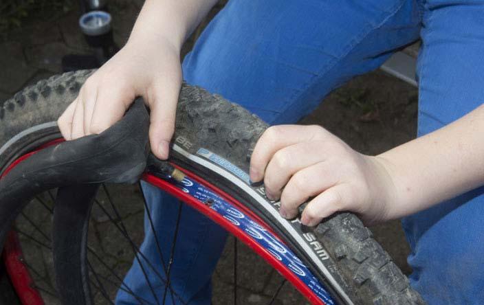 Schlauchwechsel am Fahrrad