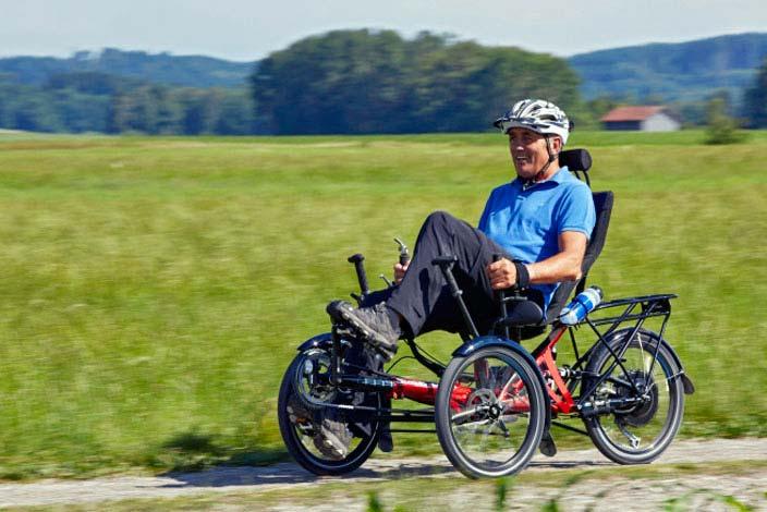 Dreirad mit Elektrounterstützung