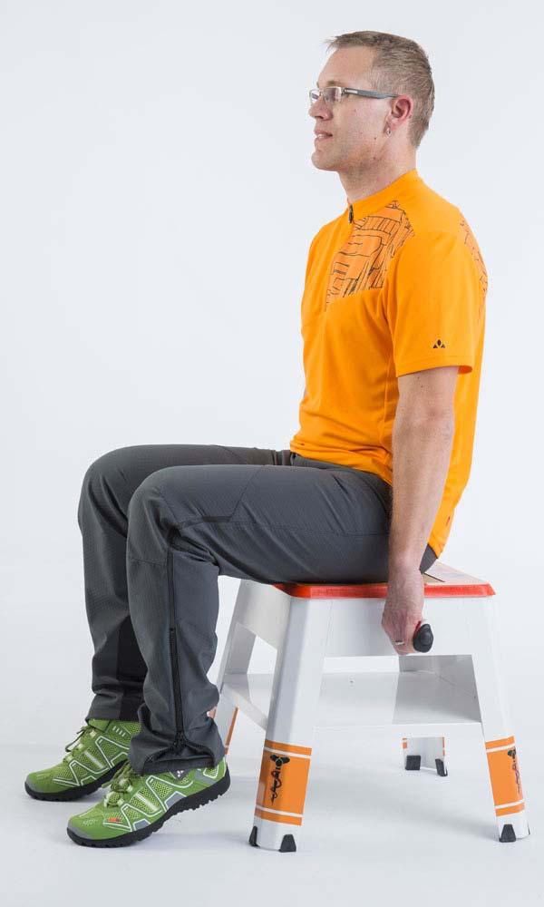 Sitzknochenvermessung mit Messhocker