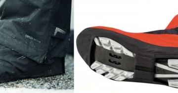 Überschuhe mit Aussparung für Schuhplatten und Profil