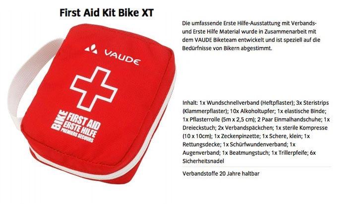 Erste Hilfe Set für Radfahrer