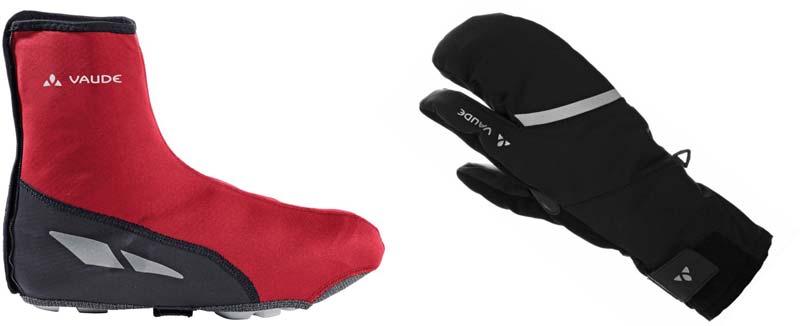 Radüberschuh und Drei-Finger-Winterhanschuh