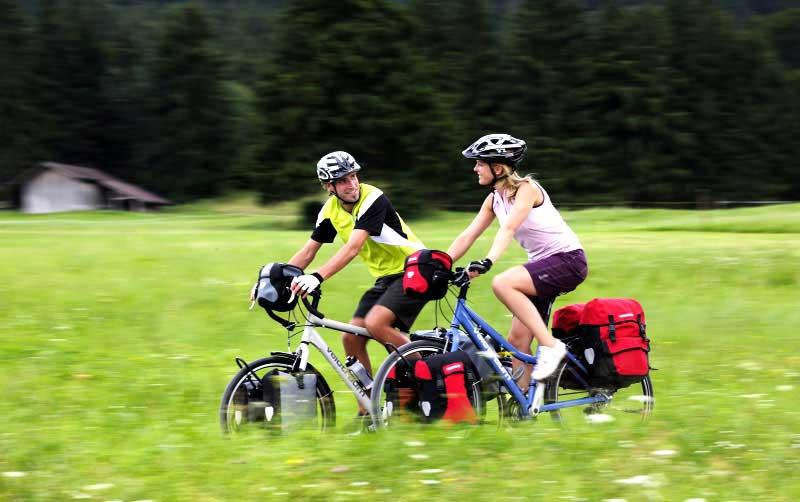 Radreise mit Gepäck