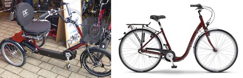 Dreirad mit Motorunterstützung und Tiefeinsteiger