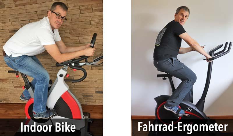 Das Bild zeigt Indoor Bike und Fahrrad-Ergometer im Test