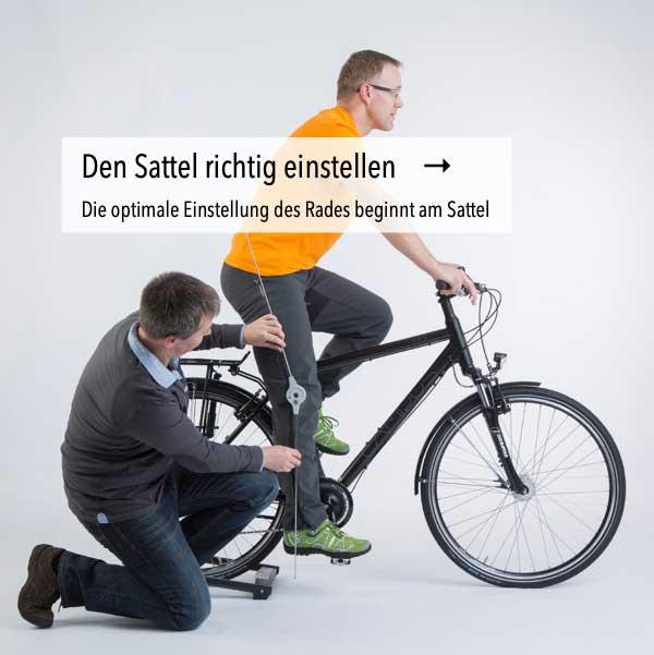 Fahrradsattel richtig einstellen und ausrichten