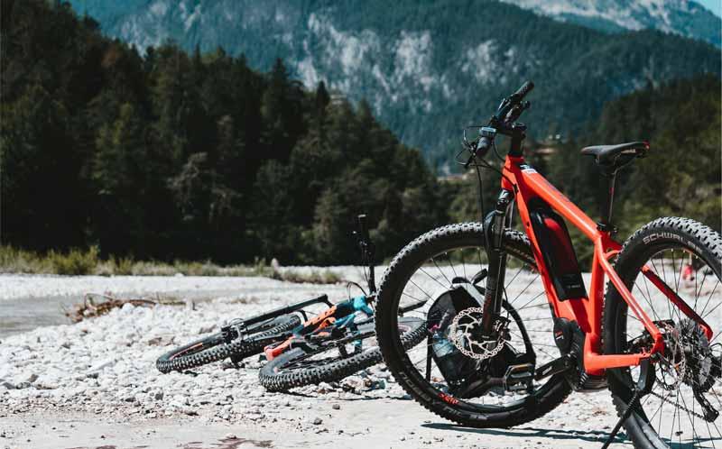 E-Mountainbikes verschmutzen im Gelände sehr schnell