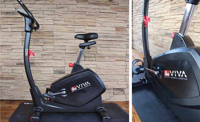 Die Bilder zeigen den Asviva H22 Ergometer