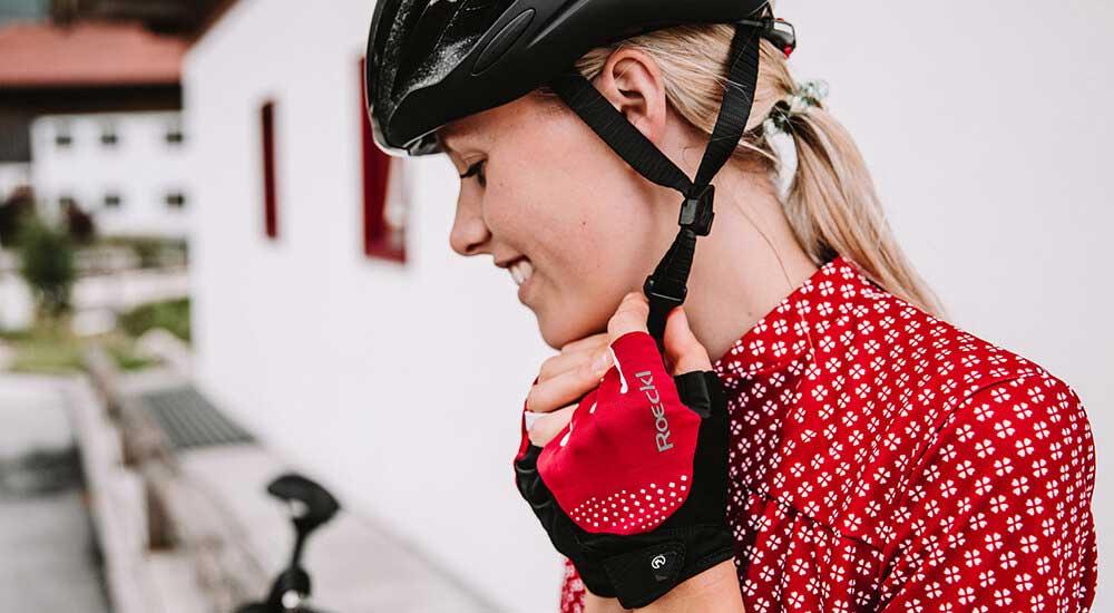 Das Bild zeigt Fahrradhandschuhe für den Sommer