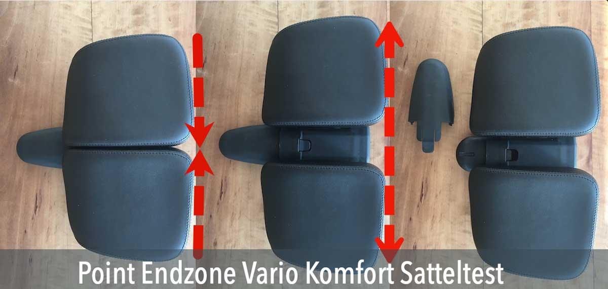Das Bild zeigt den Endzone Vario Komfort Sattel im Test