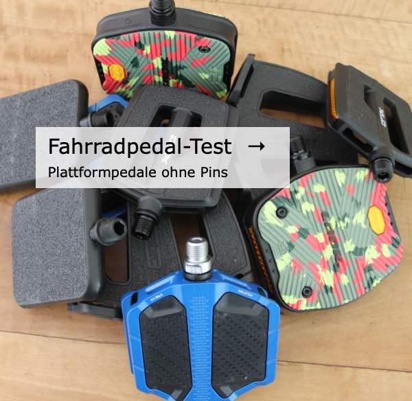 Das Bild leitet zu Fahrrad Plattformpedale im Test
