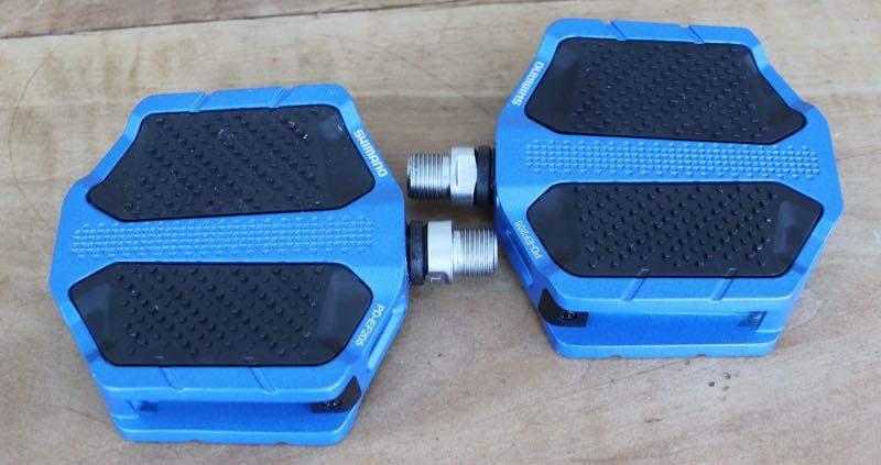 Das Bild zeigt ein Shimano Pedal mit Aluminium Korpus